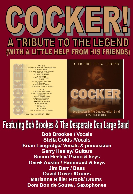 COCKER: A TRIBUTE TO THE LEGEND /TAKING BOOKINGS NOW!