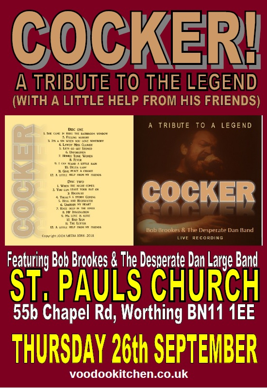 COCKER: A TRIBUTE TO THE LEGEND AT ST PAULS CHURCH WORTHING