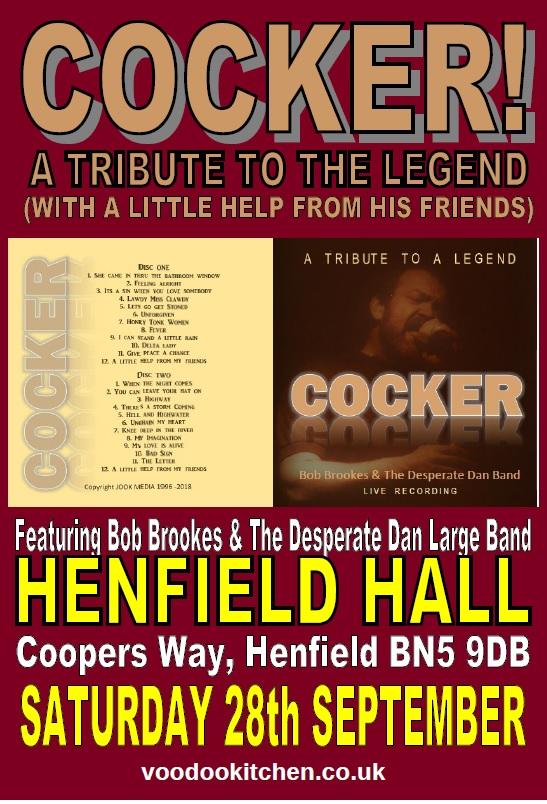 COCKER:  A TRIBUTE TO THE LEGEND AT HENFIELD HALL