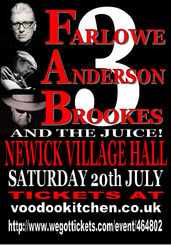 FARLOWE ANDERSON BROOKES & THE JUICE AT NEWICK VILLAGE HALL
