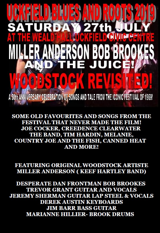 MILLER ANDERSON BOB BROOKES &THE JUICE AT UCKFIELD BLUES AND ROOTS