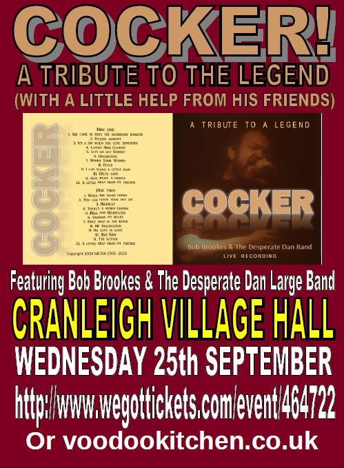 COCKER: A TRIBUTE TO THE LEGEND AT CRANLEIGH VILLAGE HALL