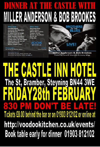 BROTHERS IN THE BLUES AT BRAMBER CASTLE INN HOTEL