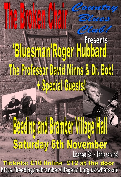 'Bluesman' Roger Hubbard at The Broken Chair Blues & Country Club